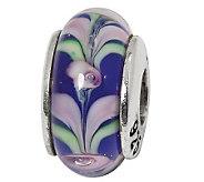 Prerogatives Sterling Blue and Lavender Glass Bead - J109312
