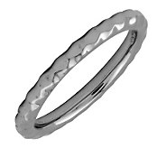 Simply Stacks Sterling Black Rhodium-Plated 2.25mm Hammer Ring - J298912
