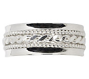 Sterling Twisted Design Silk Fit Band Ring-Unisex - J309512