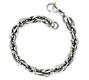 Stainless Steel 8 Oval Interlocking Link Bracelet - J312212