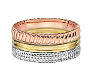 Simply Stacks Sterling Tri-color Ring Set - J312712