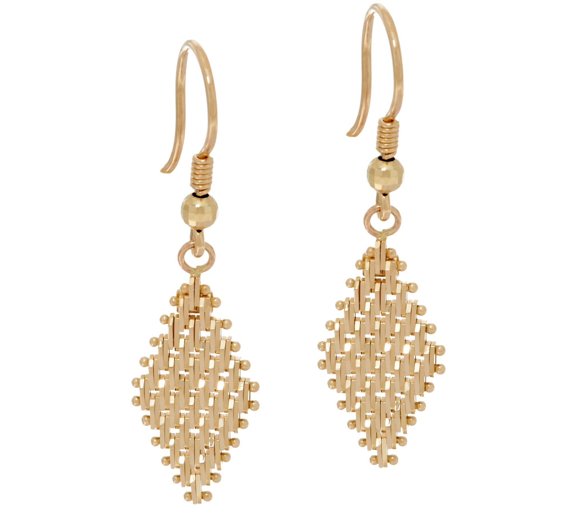 electroformed links products plated earrings gold italian polished
