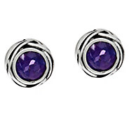 Or Paz Sterling Silver Gemstone Solitaire Earrings - J335912