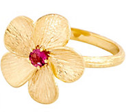 Adi Paz 0.10 ct Pink Tourmaline Flower Ring 14K Gold - J353312