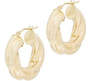 EternaGold Ribbon Hoop Earrings, 14K Gold - J353712