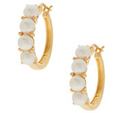 Honora Cultured Pearl Sterling Silver Hoop Earrings - J354612