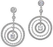 Diamonique Round Dangle Earrings, Sterling Silver - J356212
