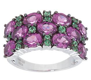 Rhodolite Garnet and Tsavorite Ring, 3.60 cttwSterling