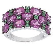 Rodolite Garnet and Tsavorite Ring, 3.60 cttw, Sterling Silver - J357612