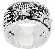 JAI Sterling Spirit of Alaska Carved Eagle Band Ring - J359612