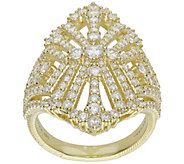 Judith Ripka 14K Gold-Clad 2.35 cttw DiamoniqueRing - J390812