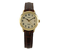 Timex Ladies Easy Reader with Brown Leather Strap & White Dia - J102913