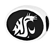 Sterling Silver Washington State University Bead - J300813
