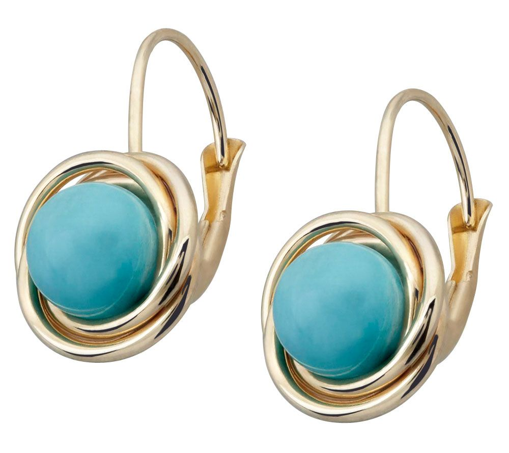 EternaGold Gemstone Love Knot Earrings, 14K - Page 1 — QVC.com