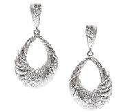 Judith Ripka Sterling & Diamonique Swirl Pear Drop Earrings - J338313
