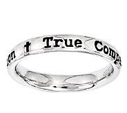 Simply Stacks Sterling Lyric True Companion Ring - J338913