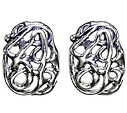 Hagit Sterling Openwork Earrings - J341813