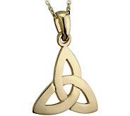 Solvar Trinity Knot Pendant w/ 18 Chain, 14K Yellow Gold - J343113