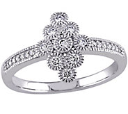 Geometric Diamond Ring, 14K White Gold, 1/5 cttw, by Affinity - J344013