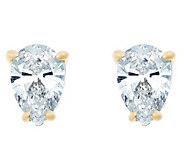 Pear Diamond Earrings, 14K Gold, 3/4 cttw, by Affinity - J345213
