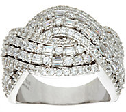 TOVA for Diamonique Love Wave Band Ring, Sterling - J347313