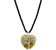 Connemara Marble Sterling Silver Tree of Life Heart Pendant - J352513