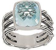 Peter Thomas Roth Sterling Silver & Blue Topaz Cushion Cut Ring - J353313