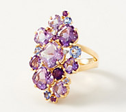Amethyst Statement Cluster Ring, 8.00 cttw, Sterling Silver - J354013