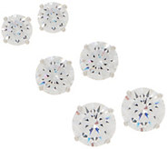 Diamonique Set of 3 Round Stud Earrings, Sterling or 14K Plated, Boxed - J357813