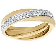 Affinity 1/2 cttw Crossover Diamond Ring, 14K - J375213