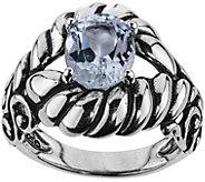 Carolyn Pollack Sterling Silver Brilliant WhiteTopaz Ring - J375913