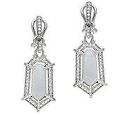 Judith Ripka Sterling Mother of Pearl & Diamonique Earrings - J384213