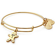 Alex and Ani Gingerbread Man Charm Bangle - J384813