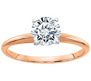Moissanite Two-Tone 1.00 cttw Round Solitaire Ring, 14K Gold - J385913