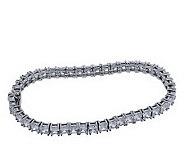 Diamonique Princess Cut Tennis Bracelet, Platinum Clad - J111414