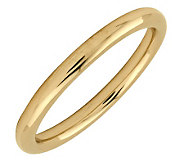 Simply Stacks Sterling 18K Yellow Gold-Pltd 2.25mm Polish Ring - J298914