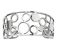 Stainless Steel Cutout Circles Cuff - J312014