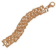 Bronzo Italia 7-1/4 Textured Interlocking Links Bracelet - J313714