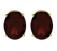 Oval Gemstone Stud Earrings, 14K Gold - J314014