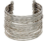 Louis by Louis DellOlio Faceted Metal Multi Row Cuff - J335214