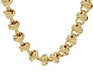 Judith Ripka Verona 18 14K Clad Link Necklace 79.0g - J348214