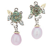 Barbara Bixby Sterling Silver & 18K Gold Abalone Pearl Earrings - J355714