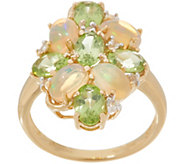 Opal and Gemstone Ring, 14K Gold - J356614