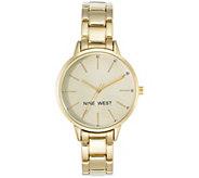 Nine West Ladies Goldtone Bebrooke Bracelet Watch - J381014