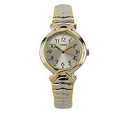 Timex Ladies Two-tone Expansion Band with Silvertone Dial - J102915