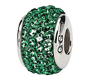 Prerogatives Sterling Green Full Swarovski Crystal Bead - J299615