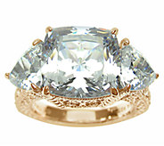 Judith Ripka Sterling & 14K Clad 3-Stone Diamonique Ring - J336815