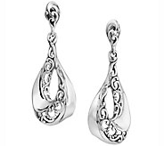 Carolyn Pollack Signature Wave Dangle Earrings - J343815