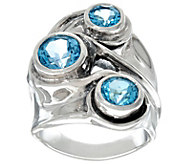 As Is Hagit Sterling Silver 3 cttw Gemstone Ring - J349215