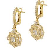 Judith Ripka 14K Clad 1.65 cttw Diamonique Earrings - J352415